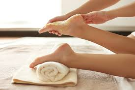 Exfoliate and Relax with a Sugar Foot Scrub Foot Massage